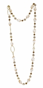 Spring Street Secret Garden Semi-Precious Natural Multi Long Necklace