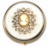 Vintage Shop Cameo PIll Box by Spring Street
