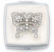 Crystal Butterfly Pill Box by Spring Street