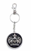 House of Windsor Crystal Crown Pill Box Key Chain By Spring Street