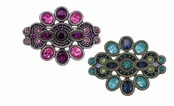 Morrocan Jewels Multi Crystal Pin by Spring Street