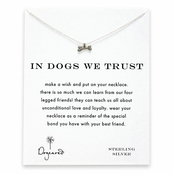 Dogeared In Dogs We Trust Sterling Silver Dog Bone Reminder Necklace