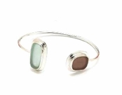 Double Rectangle Resin Cuff Bracelet