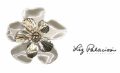 Swarovski Crystal Layered Flower Pin by Liz Palacios