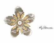 Swarovski Crystal Bold Layered Flower Pin by Liz Palacios