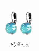 Swarovski Crystal Pacific Opal Sterling Silver Leverback Earrings by Liz Palacios