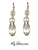 Swarovski Crystal Golden Shadow Briolette Drop Earrings by Liz Palacios