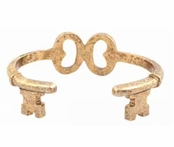 Low Luv by Erin Wasson Gold Key Wrap Cuff Bracelet