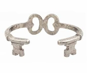 Low Luv by Erin Wasson Silver Key Wrap Cuff Bracelet