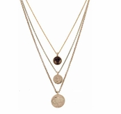 Low Luv by Erin Wasson Three Charms Necklace