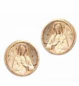 Low Luv by Erin Wasson Gold Saint Coint Stud Earrings
