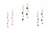 Morning Dew CZ Briolette Drops Leverback Earrings