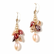 Autumn Pearl & CZ Multi Earrings