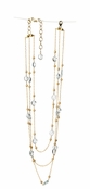 Aquamarine Multi Strand 14K Goldfilled Necklace