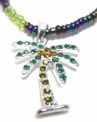 Crystal Palm Tree Beaded Anklet