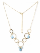 Vanguard Turquoise and Hammered Circles Necklace