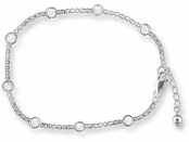 Sterling Silver Charm Holder Anklet