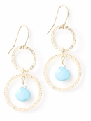 Vanguard Turquoise & Hammered Circle Earrings