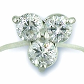 3-Stone CZ Illsuion Band Toe Ring