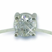 CZ Solitaire Illusion Band Toe Ring
