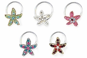 Tropical Starfish Illusion Band Toe Ring
