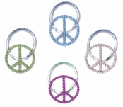 Crystal Peace Sign Illusion Band Toe Ring