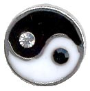 Yin Yang Enamel & Crystal Illusion Band Toe Ring