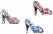 High Heel Pump Crystal Illusion Band Toe Ring