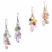 Opposites Attract Multi CZ Drop Earrings