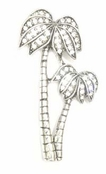 Palm Tree Duo Pave'd Crystal Pin
