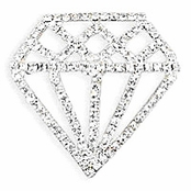 Crystal Diamond Solitaire Pin