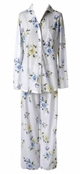 White Somerset Rose Blooms Notch Collar PJ's by Carole Hochman