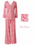 Pink  Hearts PJ Set by Lilly Pulitzer