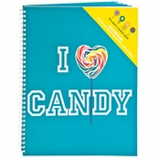 Dylan's Candy Bar I Love Candy Notebook