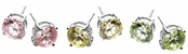2-Carat Color CZ Stud Earrings