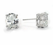 Swarovski CZ 6-Carat Oval Cut Stud Earrings