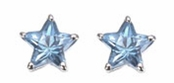 Star Cut CZ Sterling Silver Earrings
