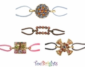 Crystal Suede Bracelet by Toe Brights