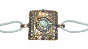 Turquoise Square Crystal Bracelet by Toe Brights