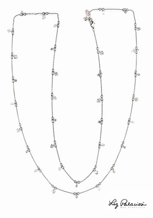 Swarovski Crystal Silver Shade Beaded 42 Inch Necklace by Liz Palacios