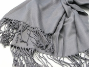 Grey Pashmina Scarf by Baked Beads