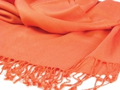 Orange Pashmina Scarf by Baked Beads