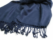 Navy Pashmina Scarf by Baked Beads
