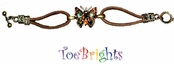 Topaz Butterfly Crystal Bracelet by Toe Brights