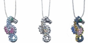 Tropical Crystal Seahorse Necklace