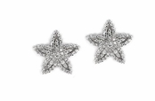 Starfish Layered CZ Earrings