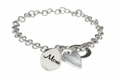 Mother of Pearl Heart Mom Bracelet by Baroni