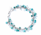 Turquoise Multi Beaded Gemstone Bracelet