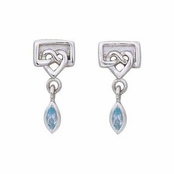 Celtic Unity & Love Blue Topaz Earrings by Kit Heath