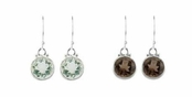 Gypsy Girl Round Faceted Gemstone Drop Earrings by Baroni